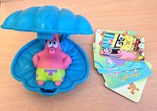 MCDONALDS Happy Meal Toy SPONGEBOB OYSTER SHELL + Carte Da Gioco Nuovo di zecca nuovo con confezione