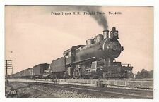 FREIGHT TRAIN,PENNSYLVANIA RAIL ROAD  OLD PRINTED  POSTCARD