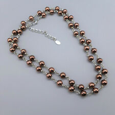 Carolina Herrera Bronze Beaded Necklace, Adjustable Length