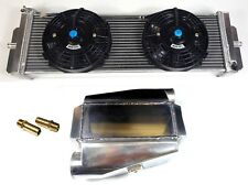 ACQUA DELL'ARIA INTERCOOLER 180 CHARGECOOLER 19mm ricurva & Scambio di Calore Radiatore Ventole