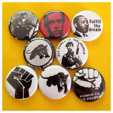 "BLACK PANTHERS 1"" buttons badge HUEY P NEWTON MLK POWER"