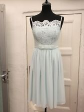 BNWOT TED BAKER MIMEE BLUE LACE BODICE SPECIAL OCCASION MIDI DRESS UK8