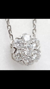 Van Cleef&Arpels Diamond  Fleurette Necklace Pendant