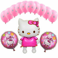 LOT DE 13 BALLONS HELLO KITTY ANNIVERSAIRE ENFANT FILLE DECORATION FETE CHAMBRE