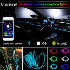 6m RGB LED Car Door Dash Ambient Atmosphere Light Strip Phone APP Control Trim