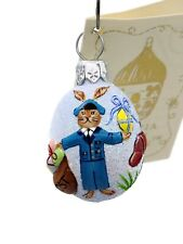 Patricia Breen Miniature Egg Spring Delivery Easter Bunny Mail Spring Ornament