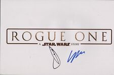 """DONNIE YEN +1 """"Rogue One Star Wars Story LOGO"""" Authentic Hand-Signed 11x17 Photo"""