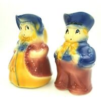 Vintage Set 2 Little Bo Peep & Boy Blue Pitchers Shawnee Pottery USA Ceramic 7""