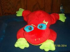 1998 TY PILLOW PALS RED FROG RIBBIT PLUSH BEANIE BABY