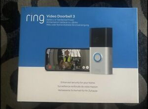 Ring Video Doorbell 3, With 2 Way Talk brand New Sealed Genuine