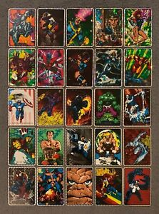 1992 Marvel Masterpieces Vending Machine Prism Stickers Card Singles You Choose
