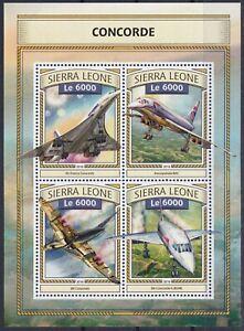 Sierra Leone  7878 - 7881 KB / Sheet **, Concorde (11 ME)
