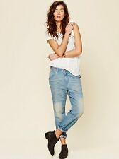 NWT Free People Boyfriend Carpenter Jeans - Aquamarine Size 27