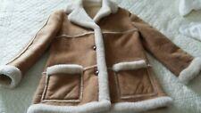 Vintage Sawyer Shearling Sheepskin Leather Jacket Ranch Fur Marlboro Womens Coat