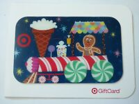 Target Gift Card Lenticular Christmas / Gingerbread Man, Train - 2007 - No Value