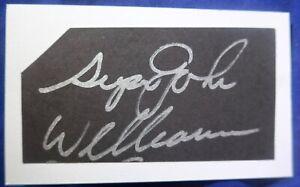 Super JOHN WILLIAMSON d.1996 Beckett's authenticated signed auto 3x5 Nets+ 73-80