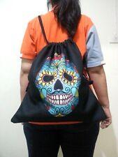 Halloween Skull Bag Backpack Polyester 3D Printing Travel Gym  Portable Black