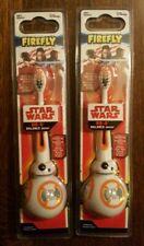 2 Firefly® Disney's Star Wars BB-8 Balance Toothbrushes SOFT Brush Kids (AA2)