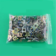 100Pcs Mixed Car Body Door Fender Trim Panel Fasteners Fixed Screws U Type Clips