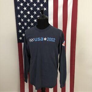 XL vtg y2k US Olympic Ski Team 2002 T-Shirt men's winter slc salt lake 3f213p