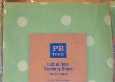 2 Pottery Barn Teen Green Drapes 52x84 Lots of Dots Polka Dot Corduroy Pair