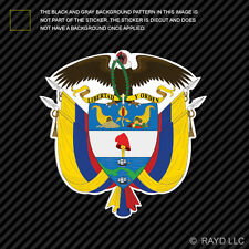 Colombian Coat of Arms Sticker Decal Self Adhesive Vinyl Colombia flag COL CO
