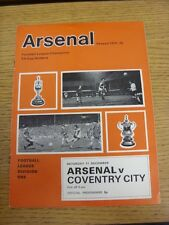 11/12/1971 Arsenal v Coventry City  (Excellent Condition)