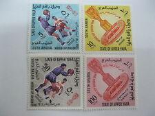 Aden-Upper Yafa -1967-Soccer-football-Mi: 28-31A-MNH