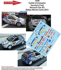 Renault Clio R3 Rallye Monte Carlo 2011 Christophe Caillet Decals 1/43