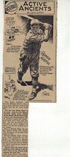 1940 newspaper feature Active Ancients by Sords- Pepper Martin St. Louis Cards