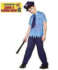 Kid's Zombie Cop Costume ~ Boy's Large (Age 8-10 Years) ~ Halloween Fancy Dress