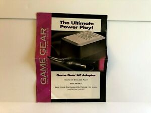 Sega GameGear AC Adapter Advert INSERT ONLY Authentic
