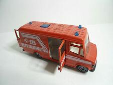Mercedes 260 E Binz Ambulanz  Feuerwehr  Siku Nr. 2880
