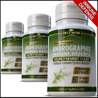 Andrographis PURE Extract IMMUNE SYSTEM DEFENCE SUPPORT HERBAL Capsules Pills