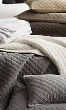 Restoration Hardware Velvet Quilted Euro Shams 3 Available Ivory