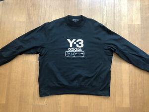 Mens Yohji Yamamoto Y-3 Logo Black Sweater. Size XXL