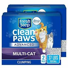 New listing Fresh Step Clean Paws Unscented Low Tracking Clumping Cat Litter