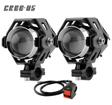 2PCS CREE U5 LED Motorcycle Fog Light With Switch For Bajaj Pulsar 150