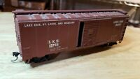 G6 HO Scale TRAIN LKE Lake Erie St Louis and Western KADEES brown box