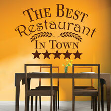 The Best Restaurant In Town Sign Food & Drink Wall Stickers Kitchen Art Decals