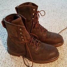 """Durango Workin Rebel Boots Mens 8"""" lacer S/T W/P Brown DDB0066 Safety Sz US 11M"""