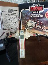 Vintage STAR WARS Battle Damaged X Wing Fighter 1980 + original box ESB version