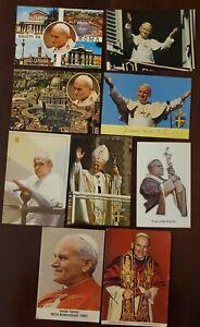 Vintage Pope John Paul II Postcard Lot of 8 + prayer. Roman Catholic Religious