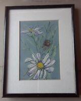 Vilaska Daisies original Artwork painting pastel
