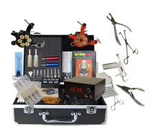 new Top Tattoo Machine Complete All Equipment kit and Body piercing jewelry tool