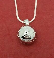 Netball Necklace Show you love Netball Large Round Charm Pendant and Chain