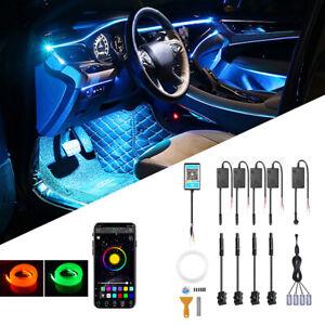 5M Car Interior RGB LED Light Strip w/ Footwell Atmosphere Lamp APP Control