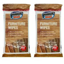 2 X MultiUse Furniture Wipes Multisurface Cleaning wipe Wood Doors Vinyl Leather