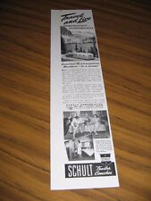 1947 Print Ad Schult Coaches Travel Trailers Family Camp in Mountains Elkhart,IN