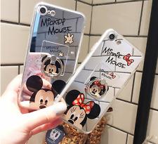 Espejo De Chicas Lindo Mickey Minnie Anillo De pie Estuche Cubierta para iPhone 11 Pro Max XR 8